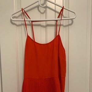 WAYF red tank with pleating